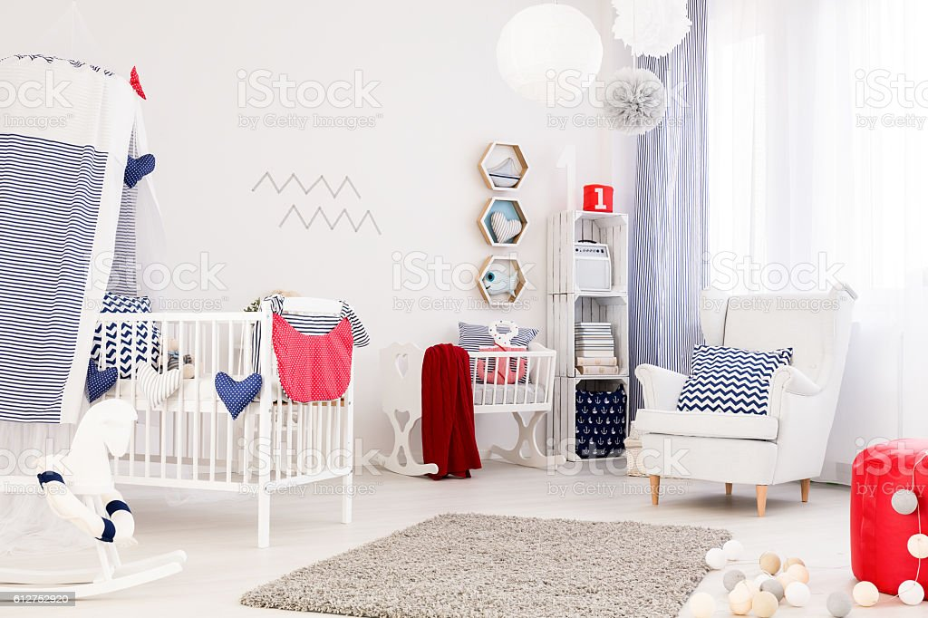 Perfect baby room stock photo
