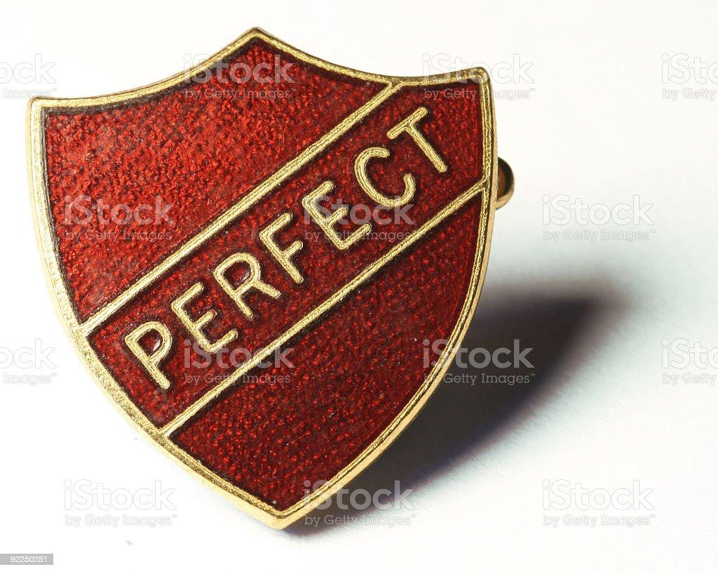 Perfect Badge stock photo