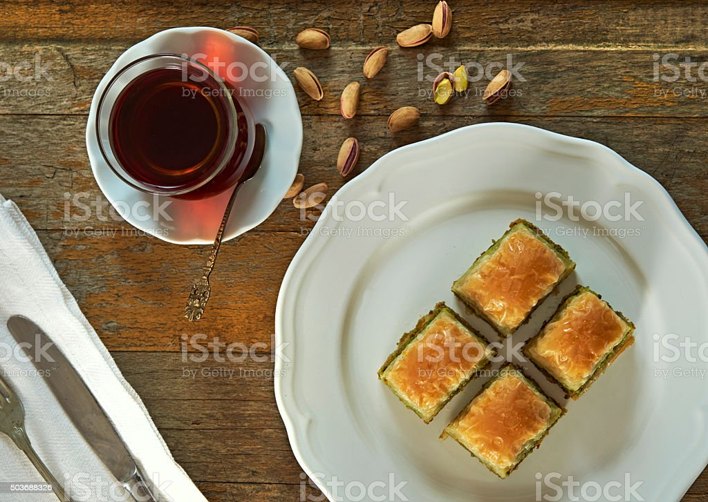 Perfect Baklava stock photo