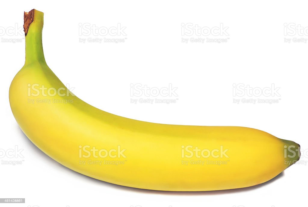 perfect banana on white stock photo
