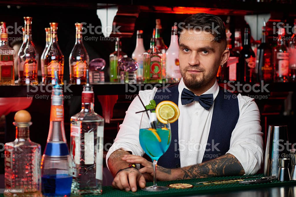 Perfect bartender stock photo