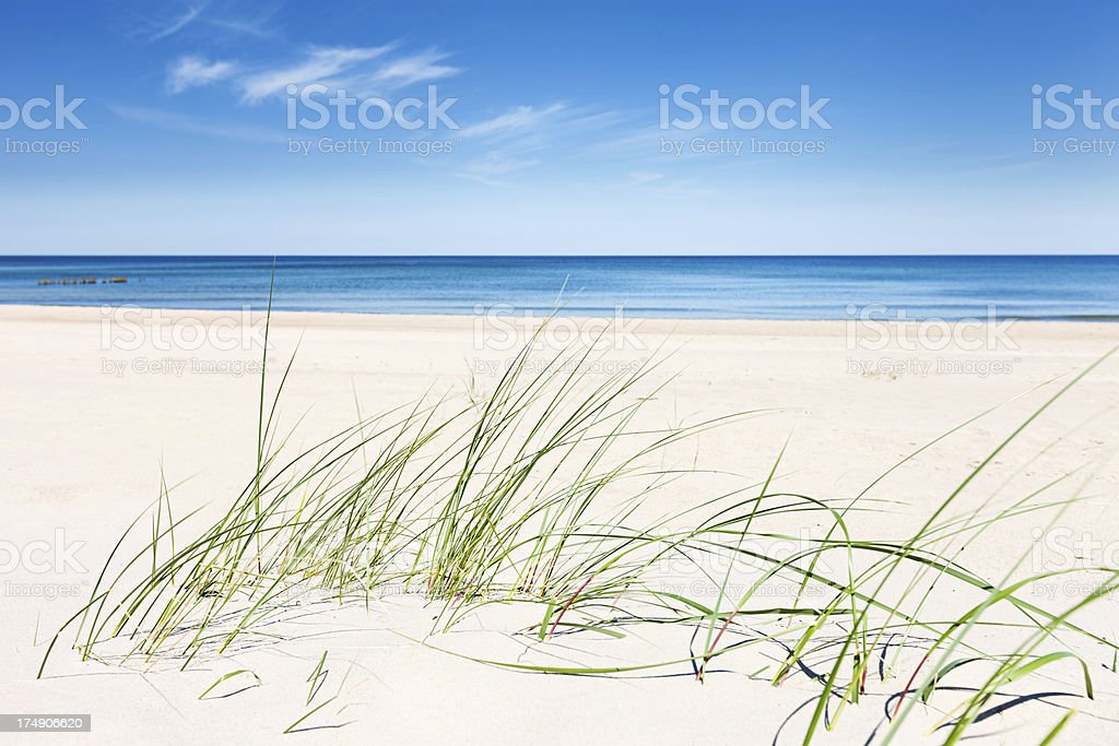 Perfect beach - sand dunes and the sea royalty-free stock photo