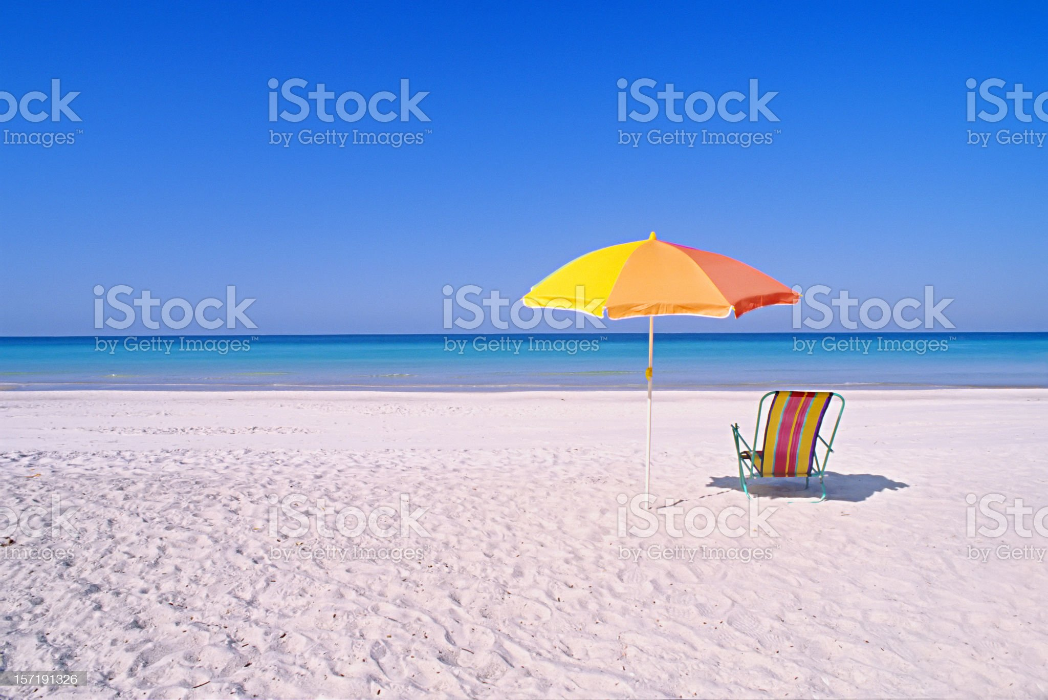 Perfect beach setting royalty-free stock photo