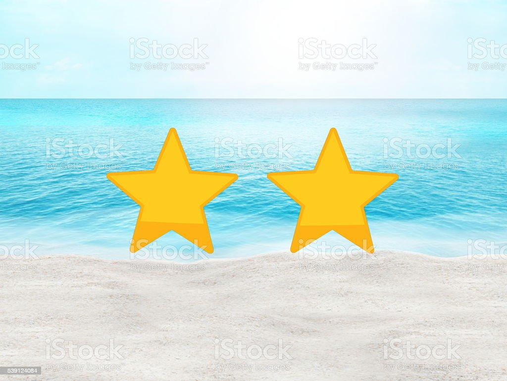 perfect beach summer travel hotel and place rating concept stock photo