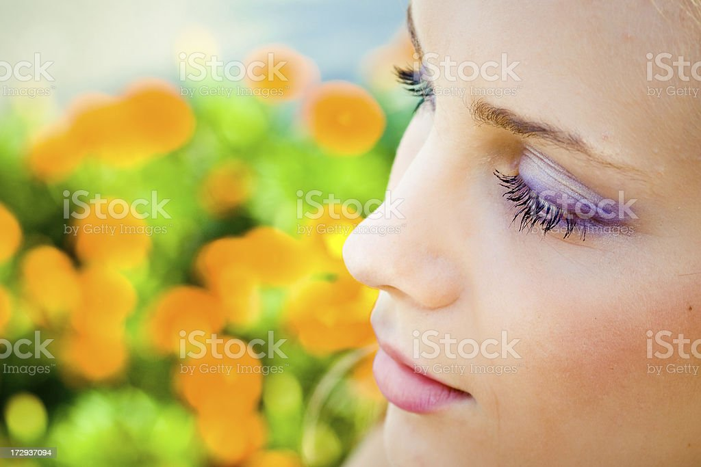 perfect beauty, clear make-up stock photo
