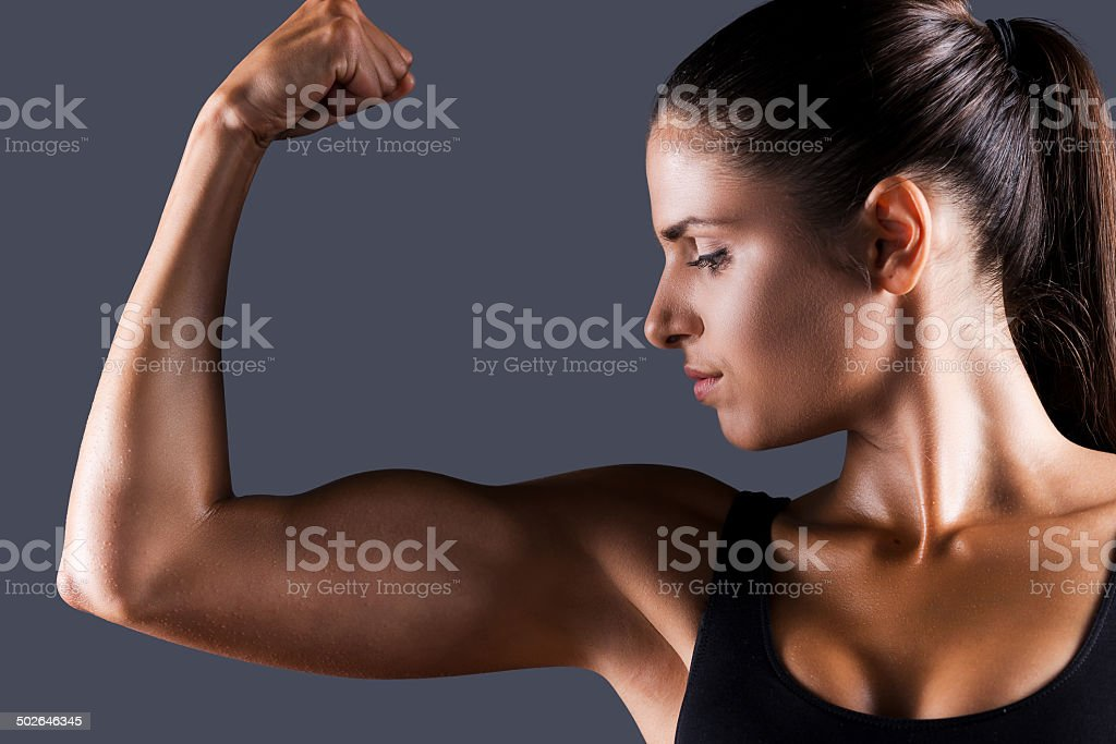 Perfect bicep. stock photo