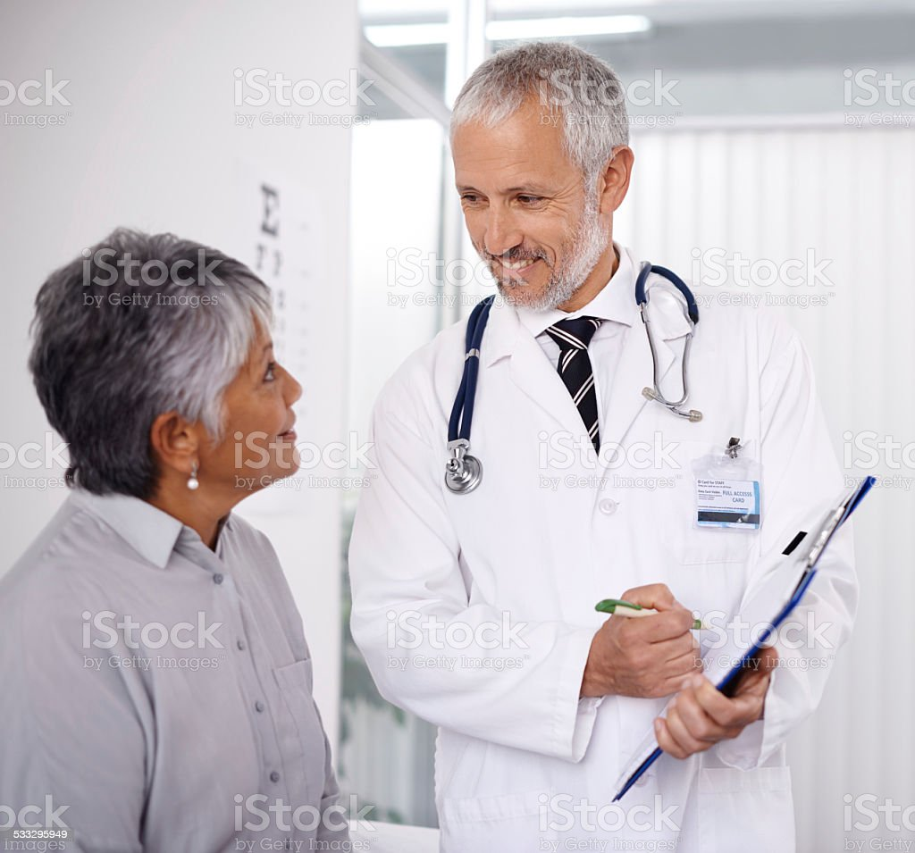 A perfect bill of health stock photo