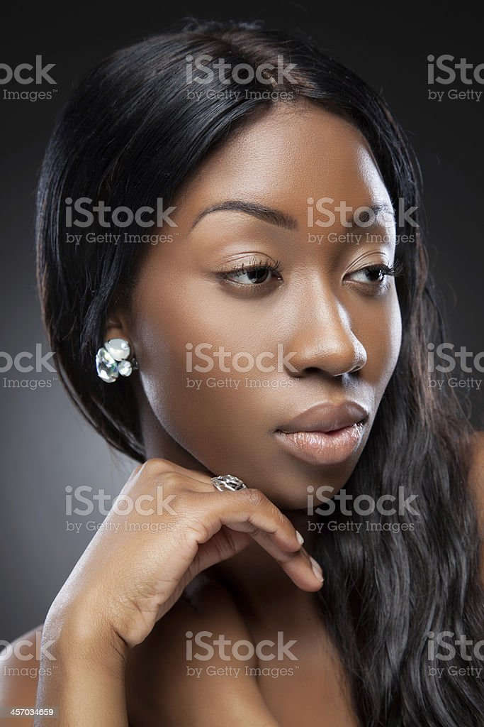 Perfect black beauty royalty-free stock photo