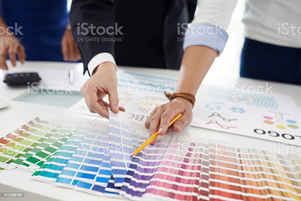 Perfect blue stock photo