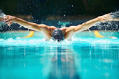 Perfect butterfly stroke!