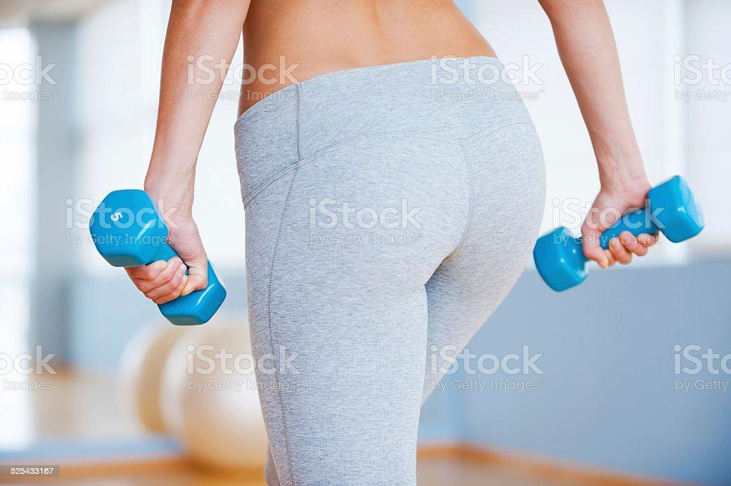 Perfect buttocks. stock photo