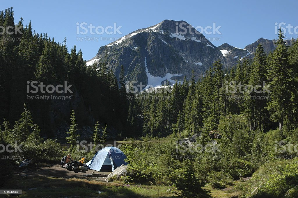 Perfect campsite royalty-free stock photo
