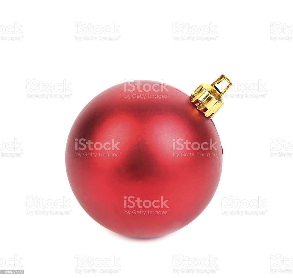 Perfect christmas ball isolated on white. royalty-free stock photo