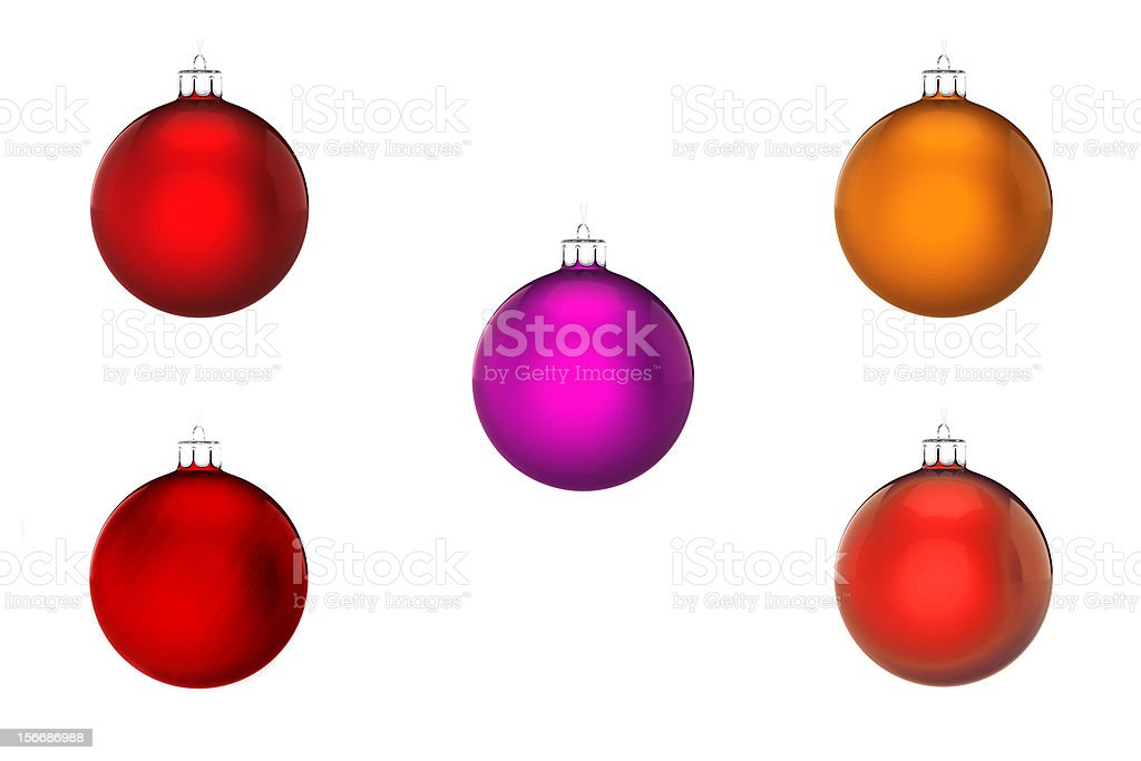 Perfect christmas ball on white background royalty-free stock photo