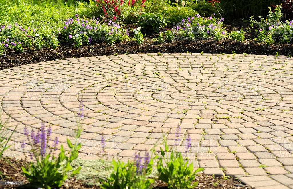Perfect Circular Patio stock photo