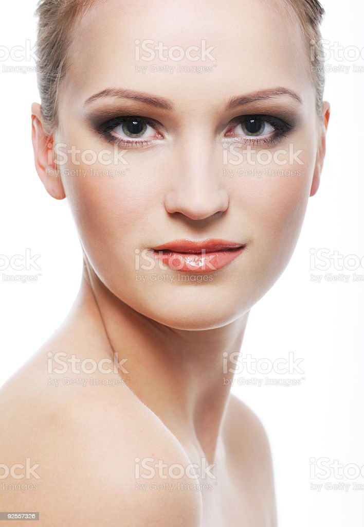 perfect clean beautiful female face royalty-free stock photo