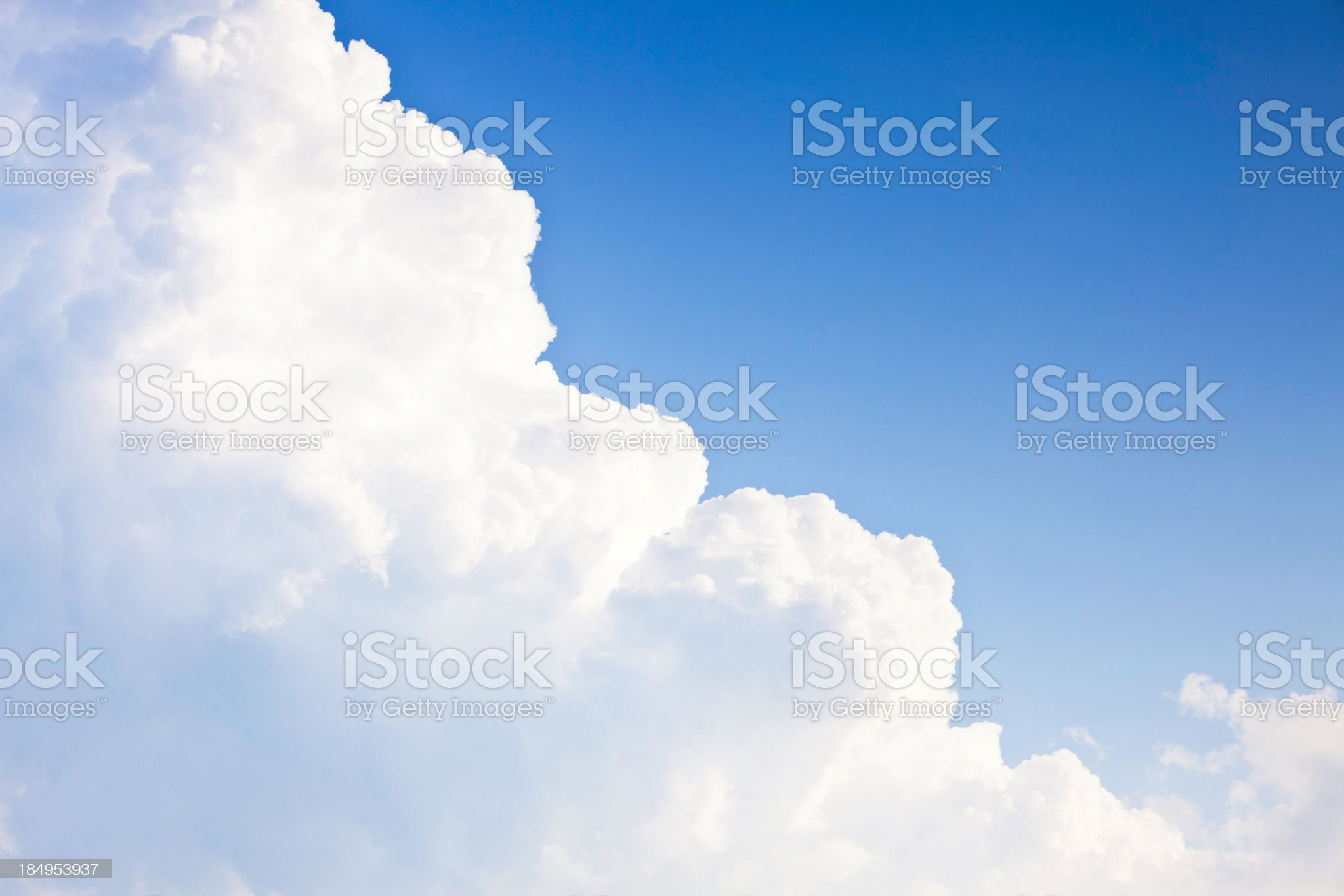 Perfect Clouds with Copy Space royalty-free stock photo