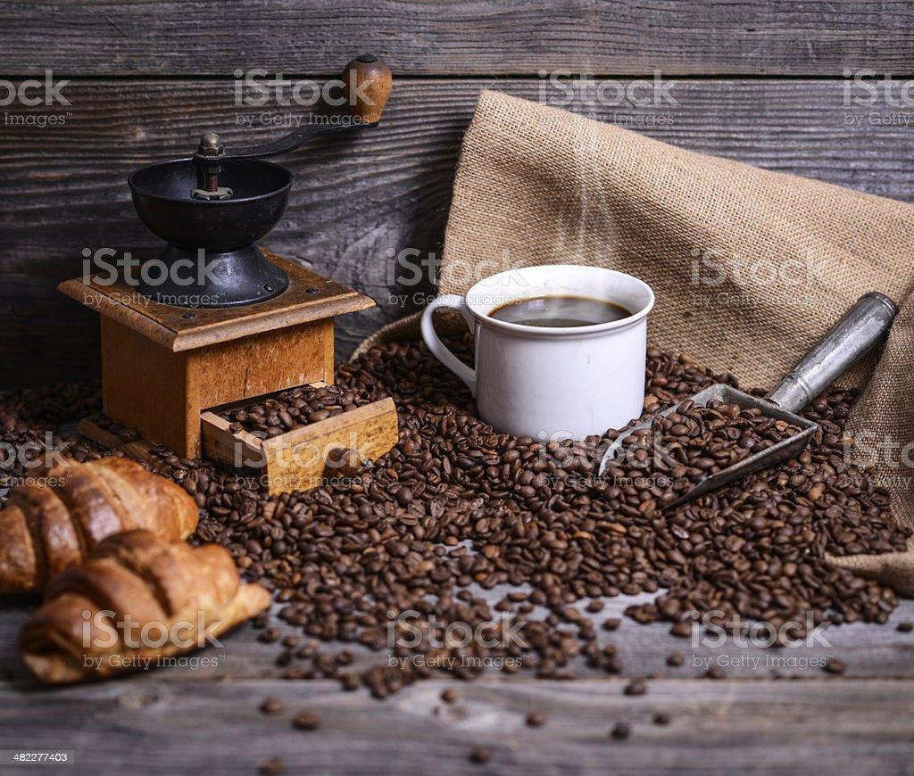 Perfect coffee background stock photo