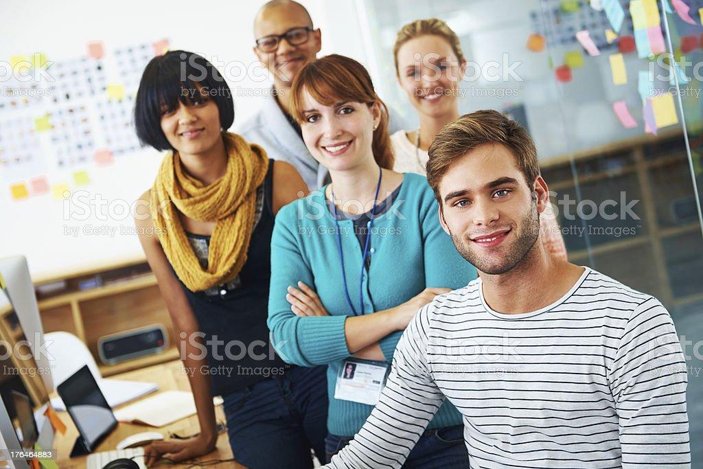 Perfect creative team royalty-free stock photo
