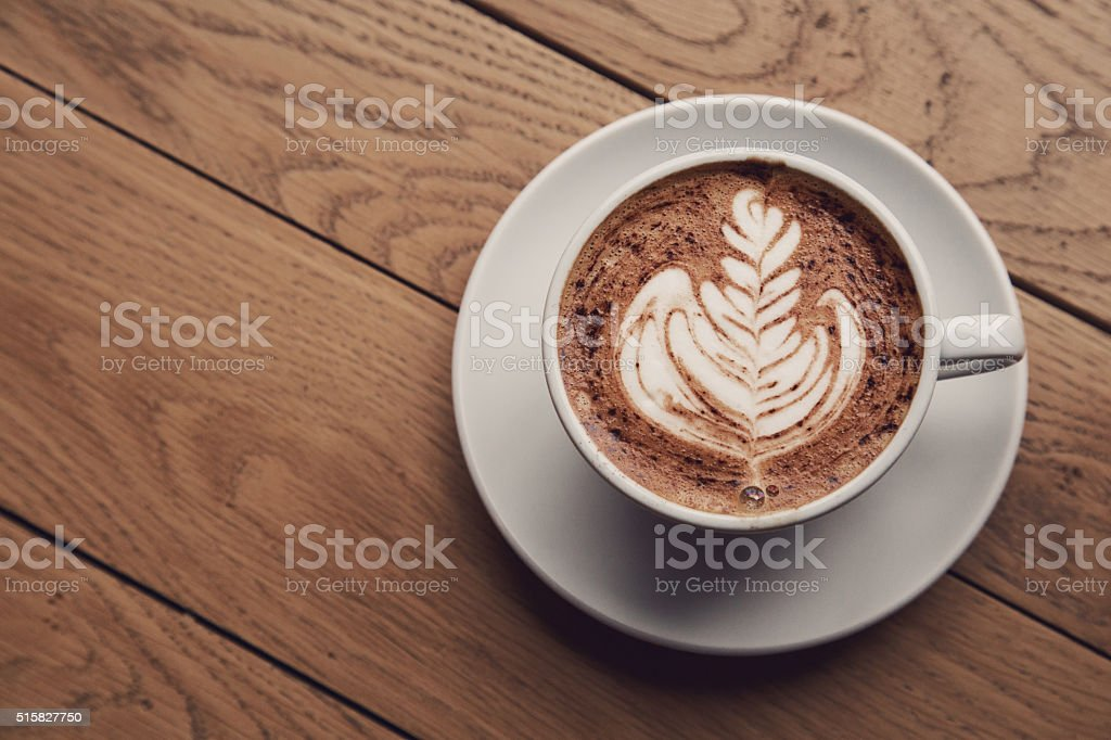 Perfect Cup Of Cappuccino stock photo
