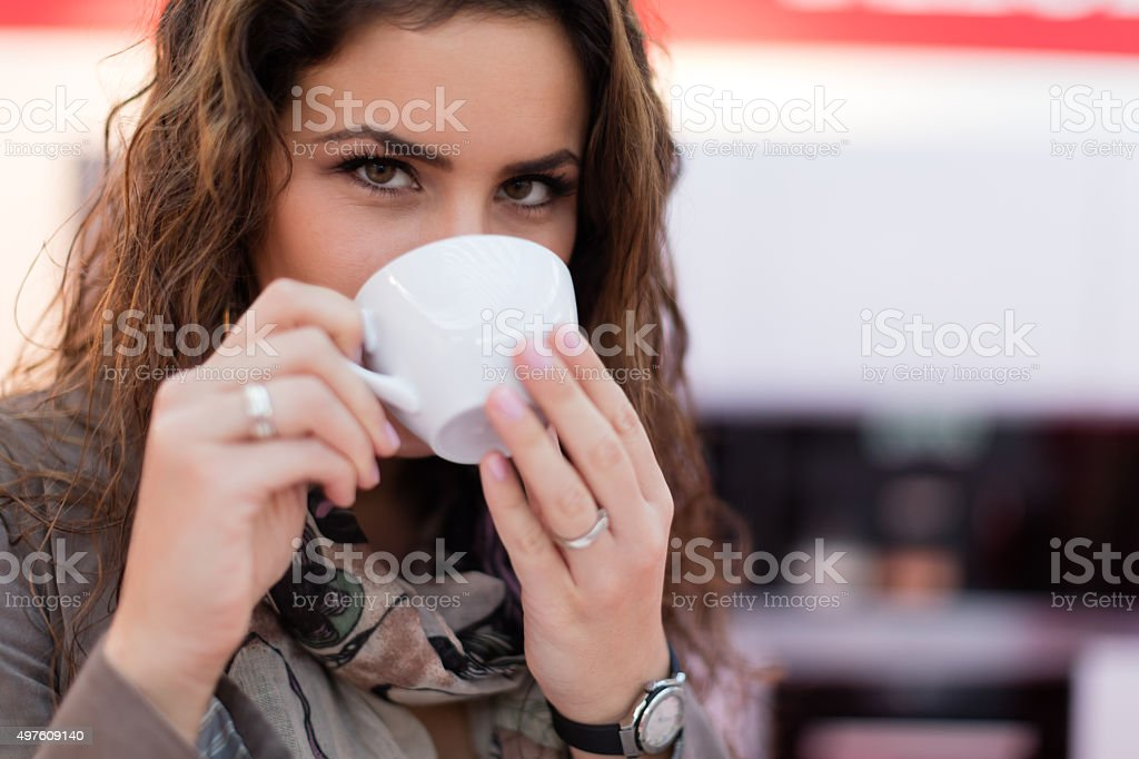 Perfect cup of coffee stock photo