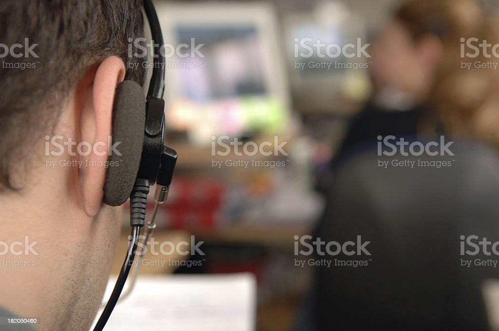 Perfect customer service stock photo
