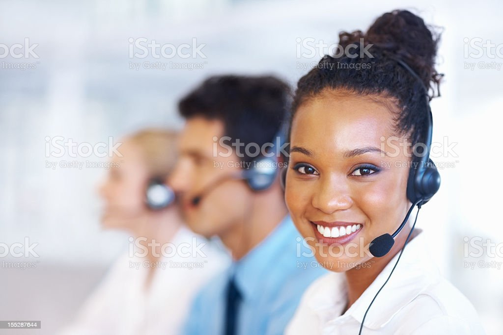Perfect customer support stock photo