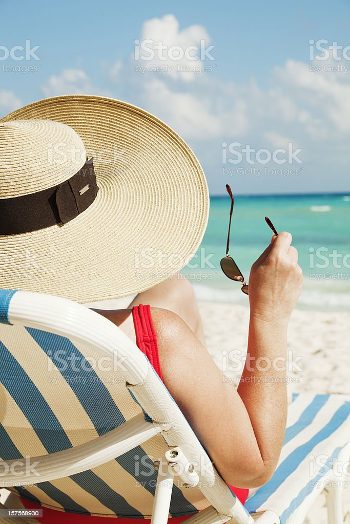 Perfect Day at the Caribbean Beach royalty-free stock photo