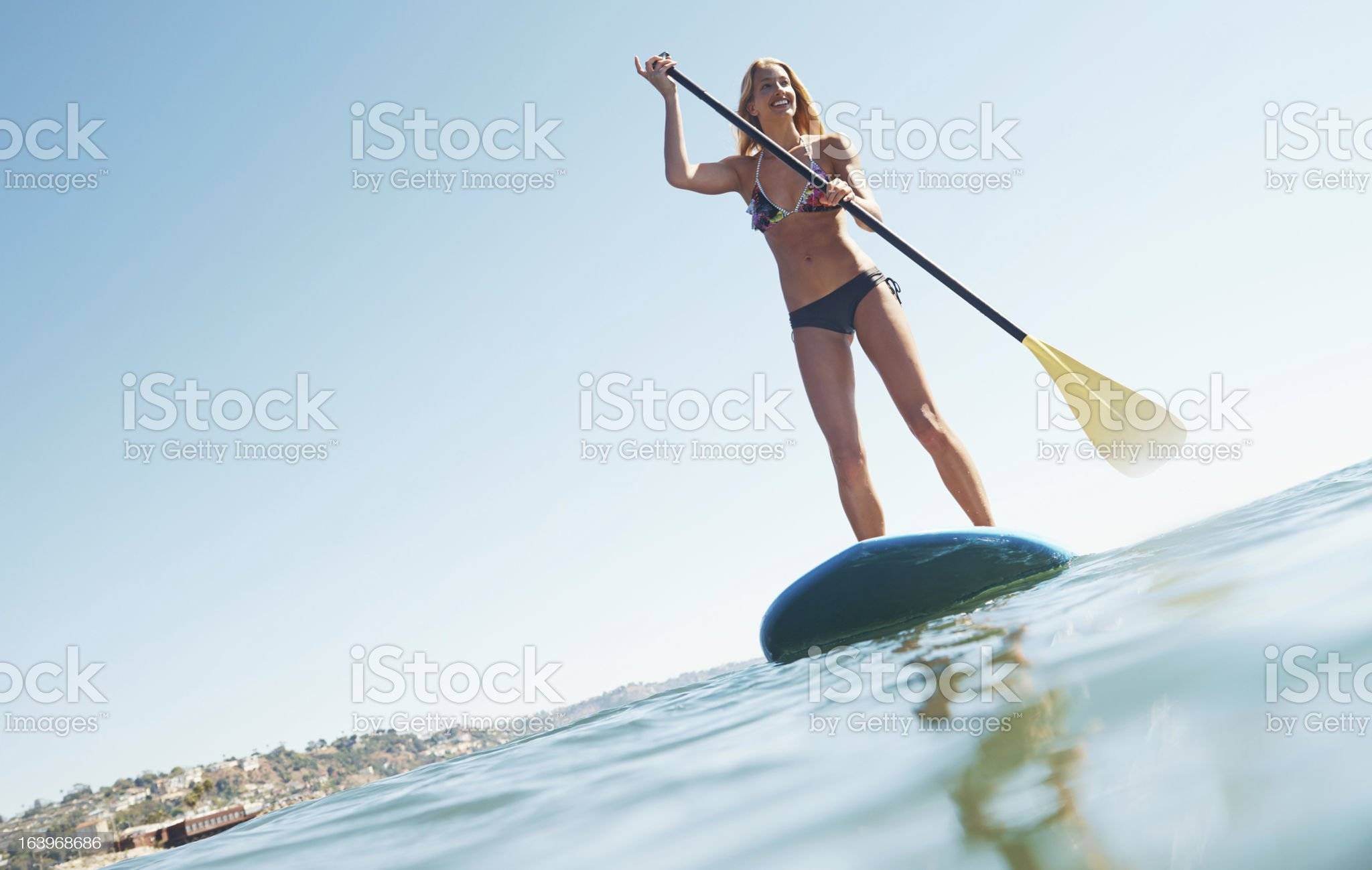 Perfect day for a paddle royalty-free stock photo