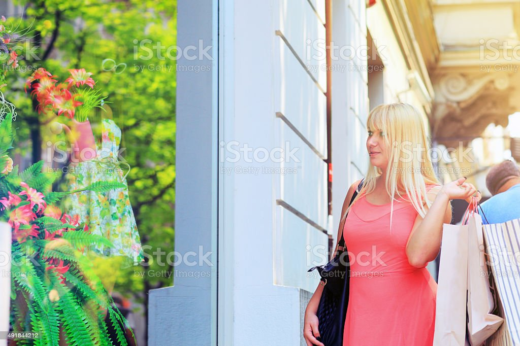 Perfect day for a Shopaholic stock photo