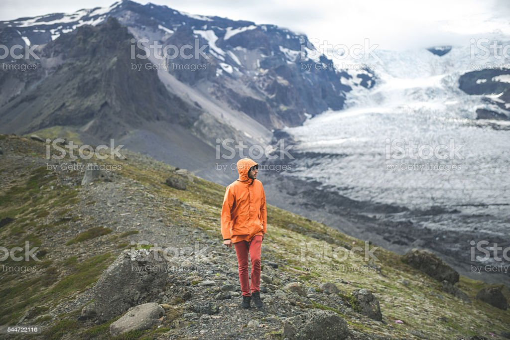Perfect day for hike stock photo
