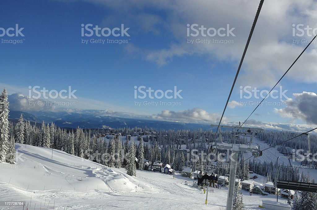 Perfect day on the mountain stock photo