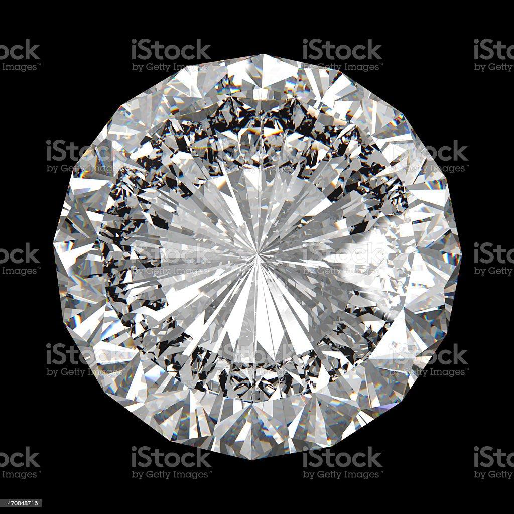 perfect diamond isolated on black stock photo