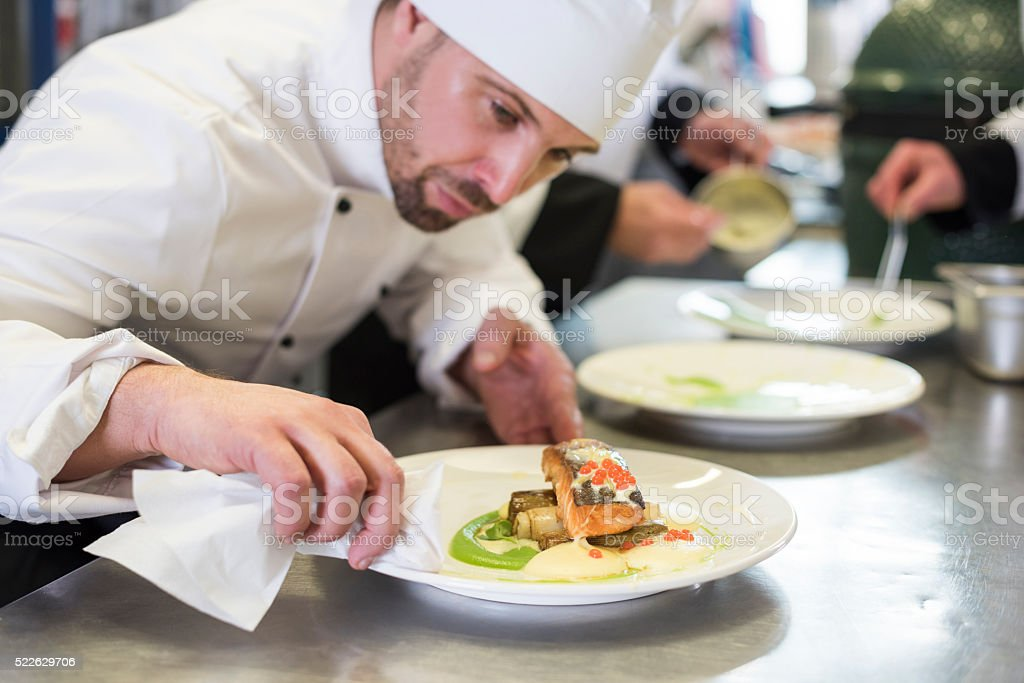Perfect dish and perfectly cleaned plate stock photo