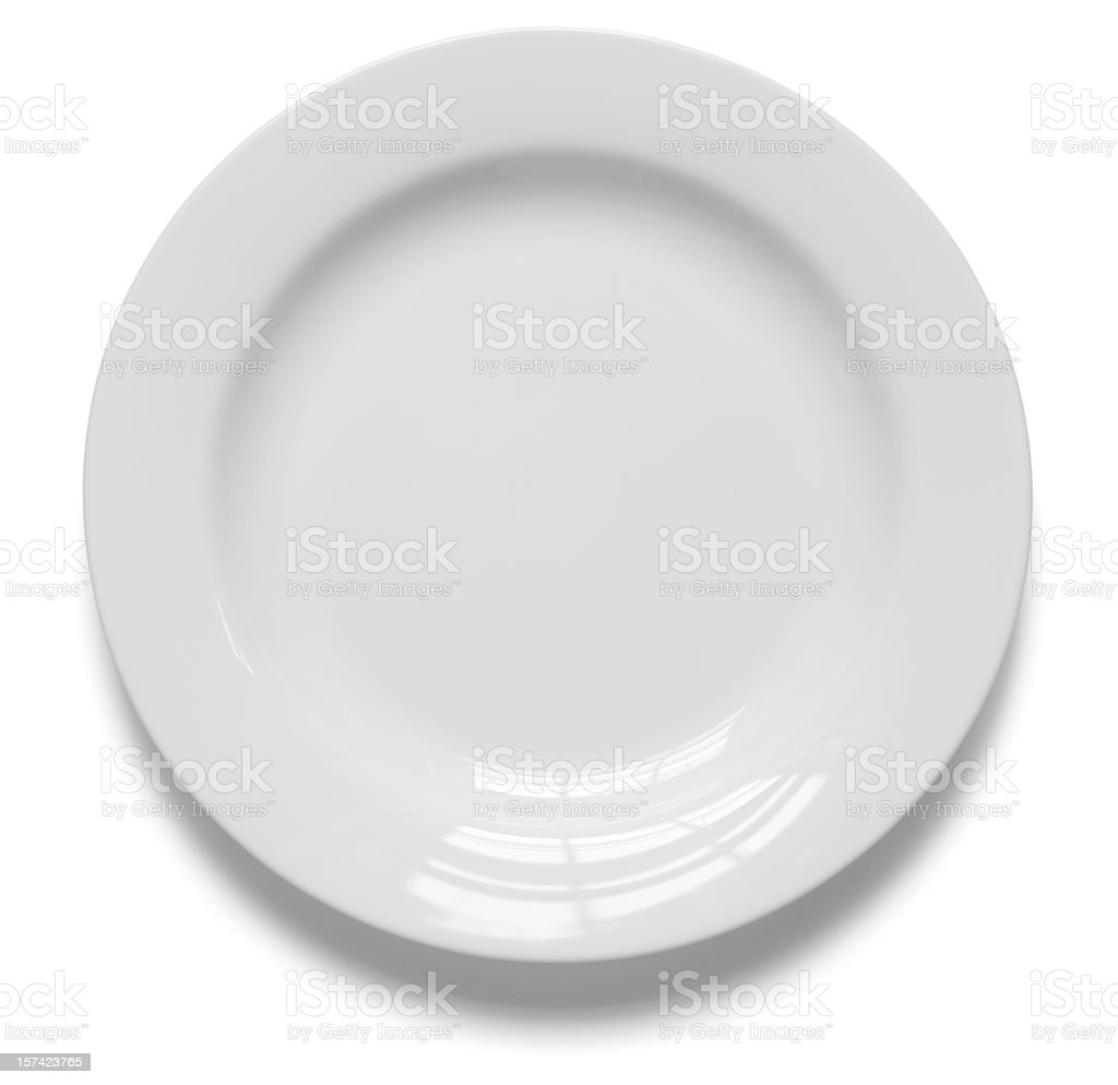 Perfect Dish with clipping path stock photo