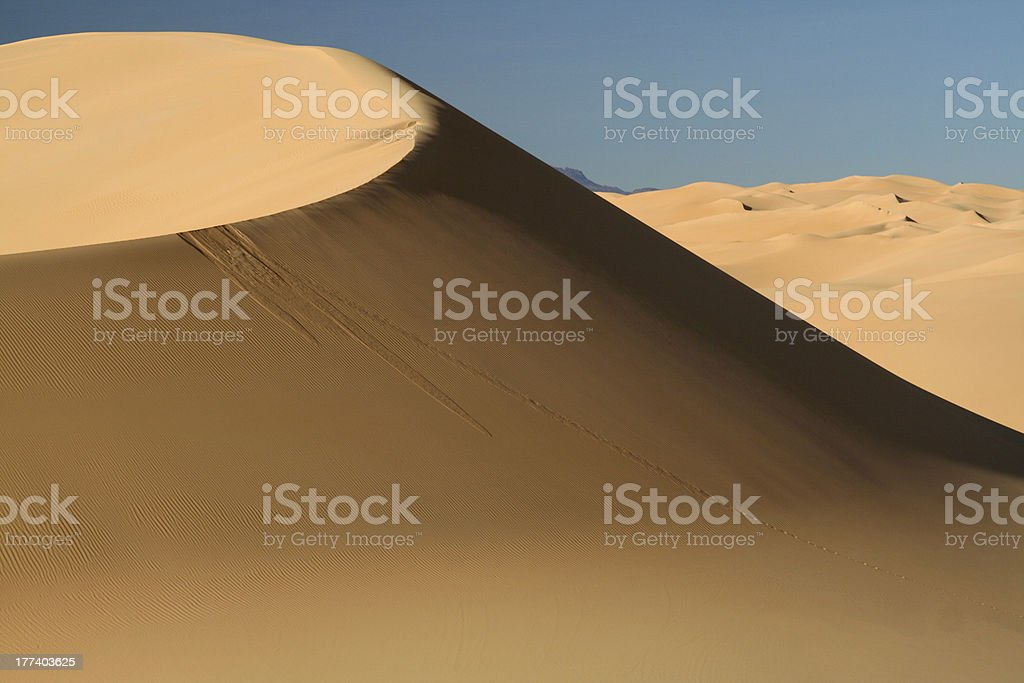Perfect Dune in Sahara Desert stock photo