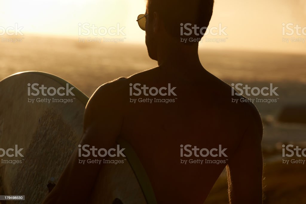 Perfect end to a wonderful day stock photo