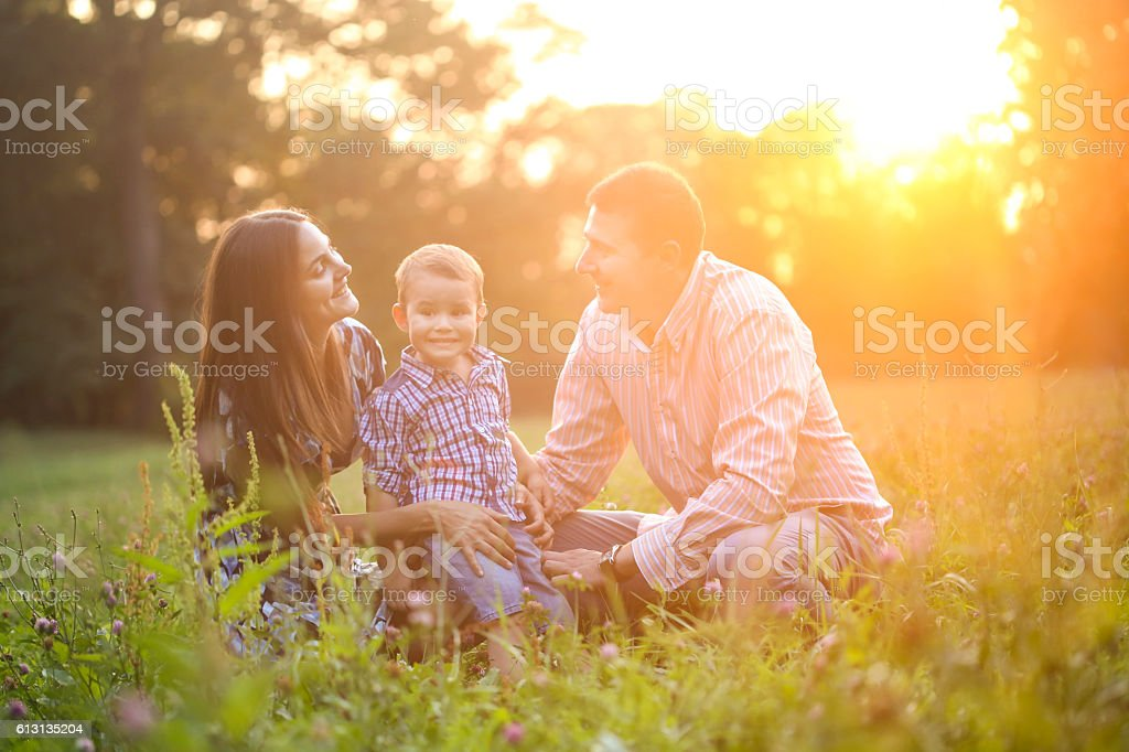 Perfect family stock photo