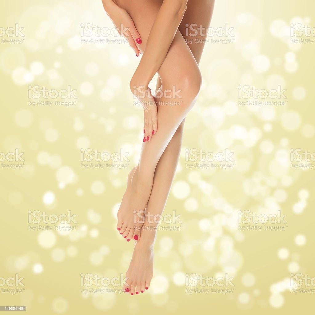 Perfect female legs royalty-free stock photo