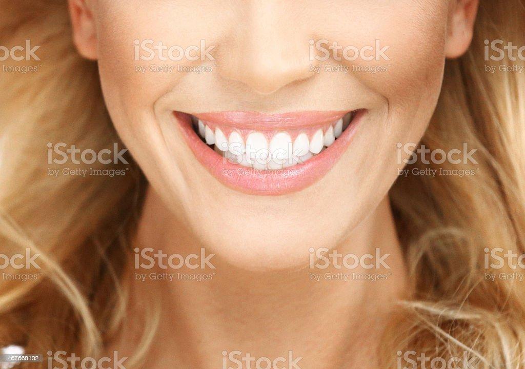Perfect female smile. stock photo