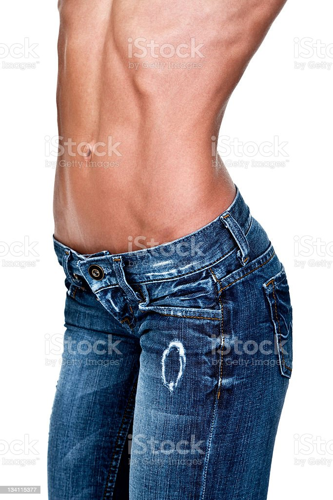 Perfect female waist royalty-free stock photo