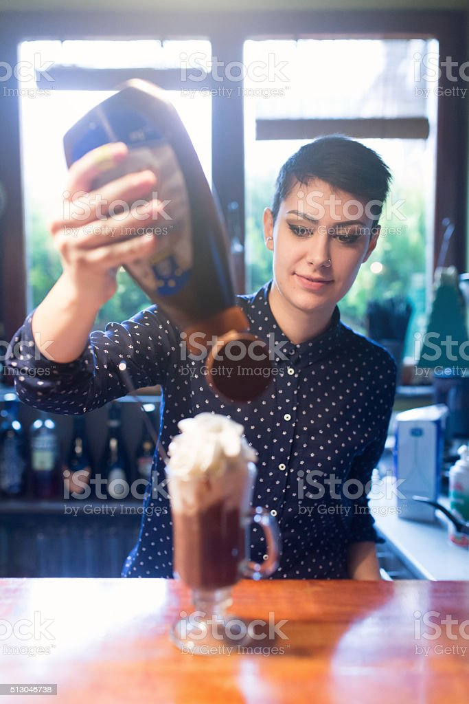 Perfect Final Touch stock photo