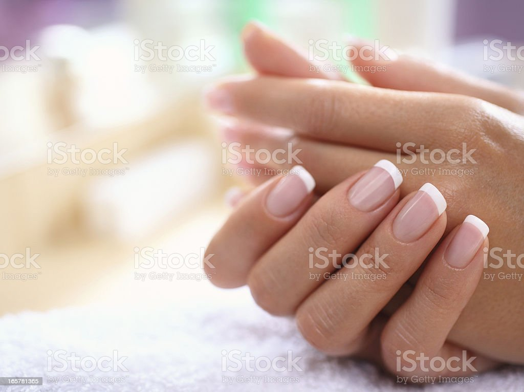Perfect fingernails. stock photo