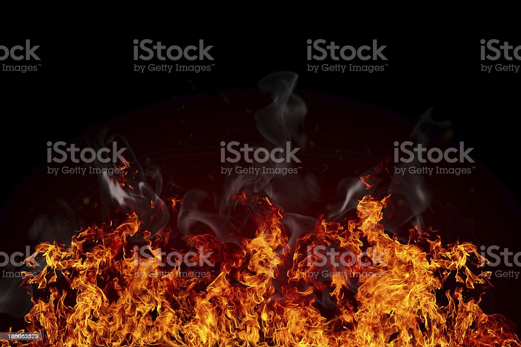 Perfect flame royalty-free stock photo