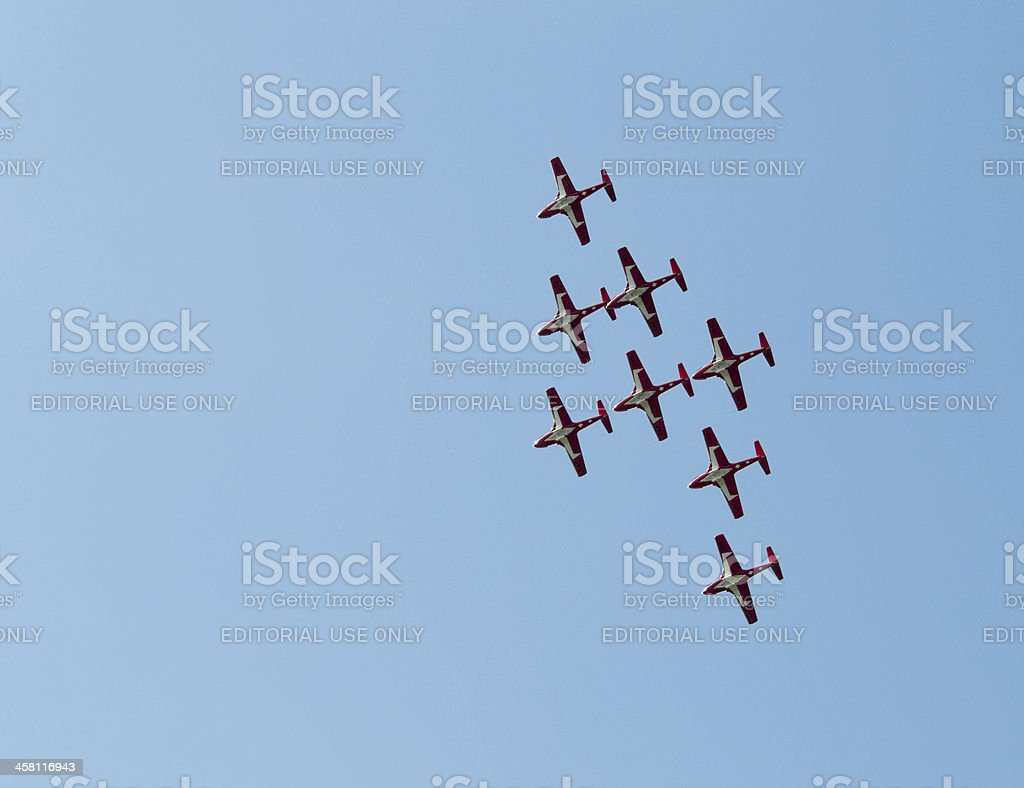 Perfect Flying Formation stock photo