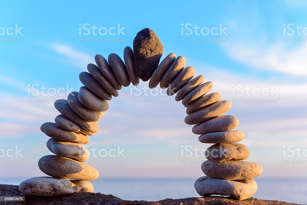 Perfect form of arch stock photo