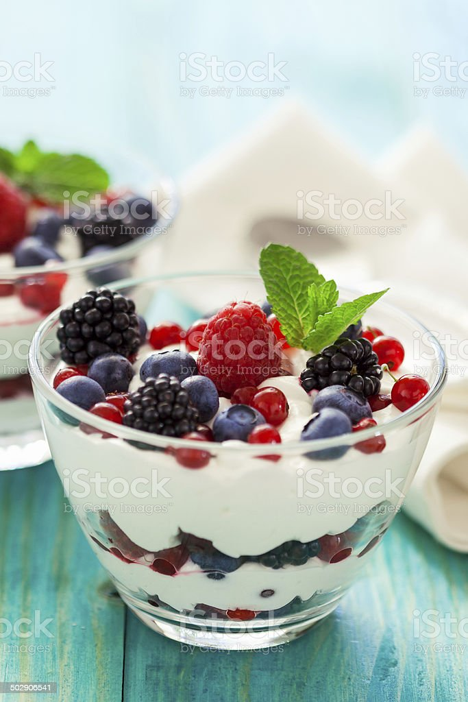 Fruit Parfait stock photo