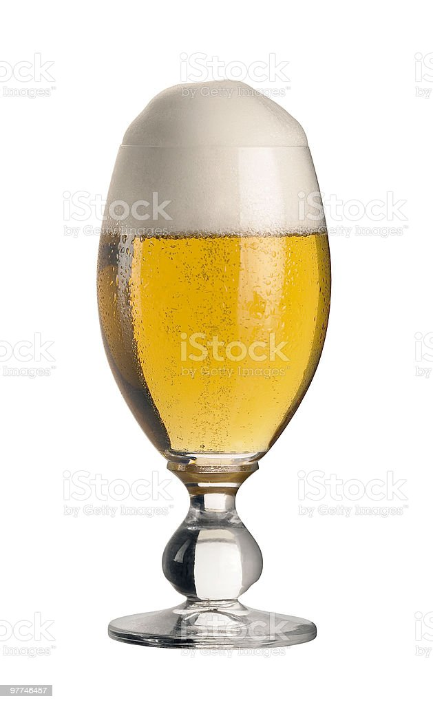 perfect glass of pils beer royalty-free stock photo