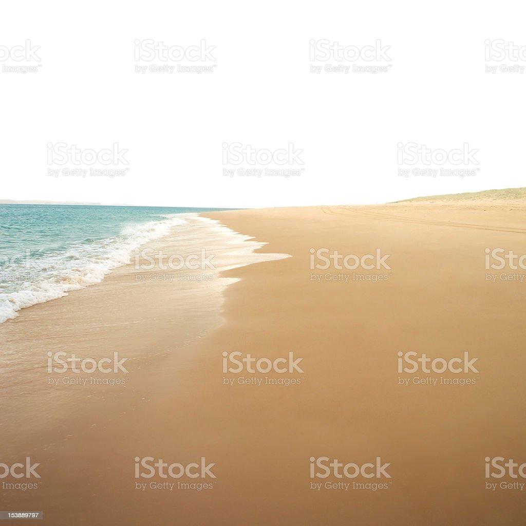 Perfect golden beach stock photo