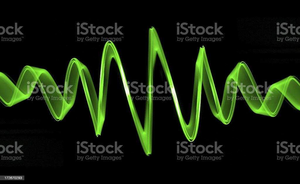 Perfect Green Sound Wave stock photo